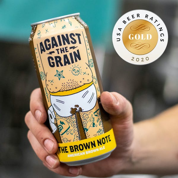 The Brown Note Wins Gold at 2020 USA Beer Ratings Competition!