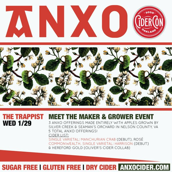 ANXO Meet the Maker & Grower @ The Trappist Oakland