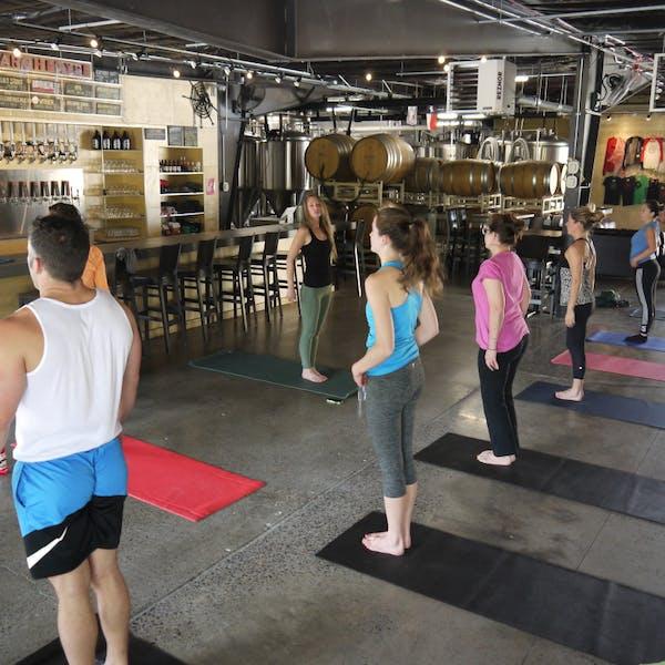 Carolina Beer Guy: Brewery yoga catching fire – Mountain Xpress