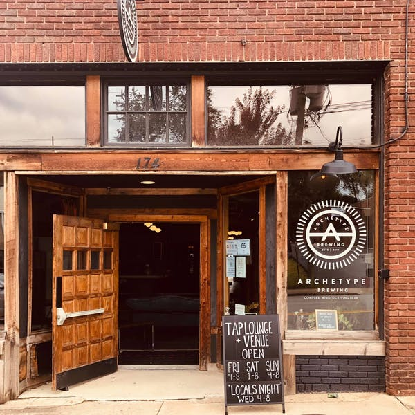 Archetype Brewing Tap Lounge + Venue Front Entrance