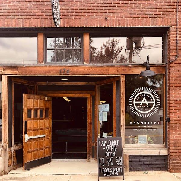 Archetype Brewing Tap Lounge + Venue Front Entrance