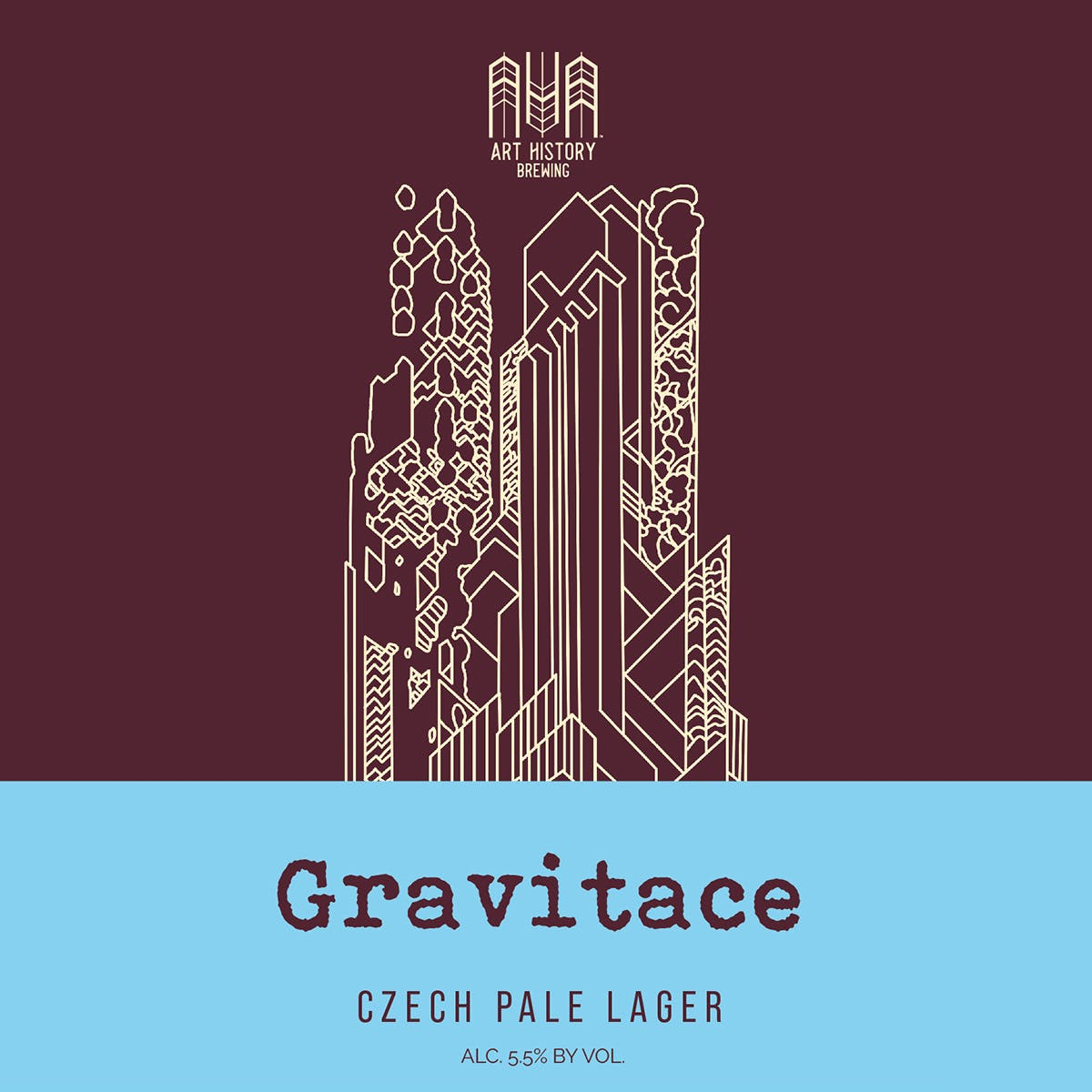 Gravitace Beer Label