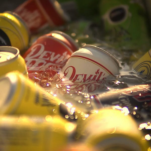 Cans In Ice - Hero Image