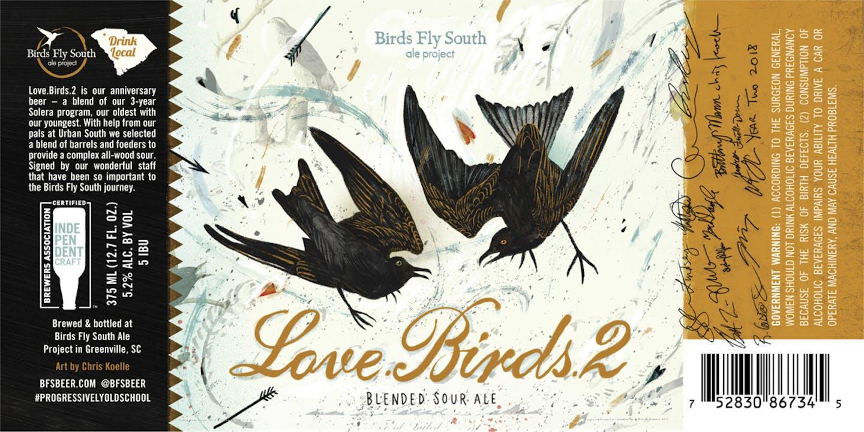 BFS LOVE.BIRDS.2 375ml 2018 Label Preview