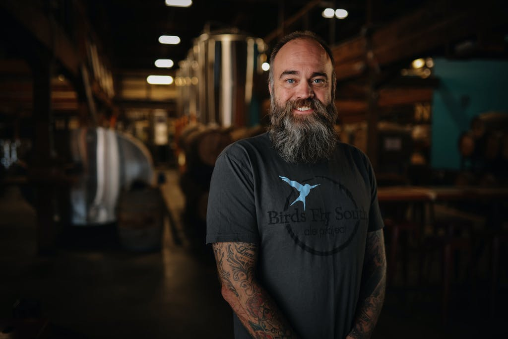 Shawn Johnson Founder of Birds Fly South Ale Project