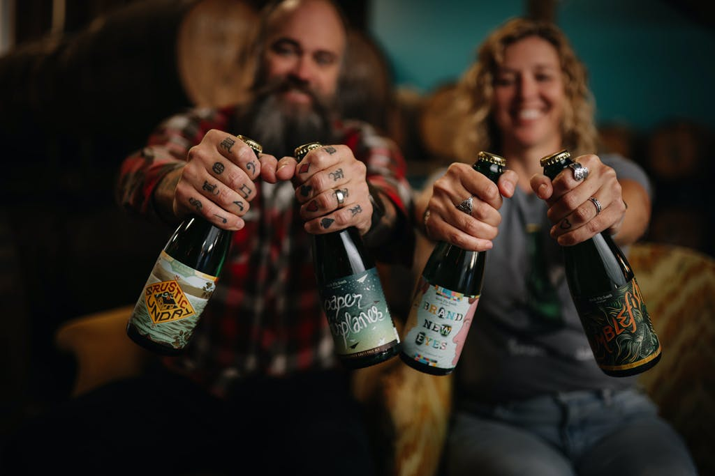 Birds Fly South Ale Project owners Shawn & Lindsay Johnson