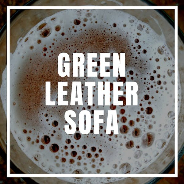 Image or graphic for Green Leather Sofa (Brick Store)