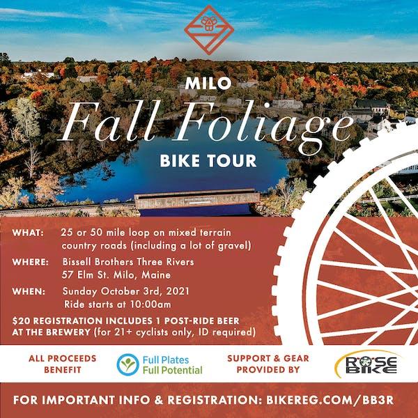 Milo Fall Foliage Bike Tour 2021