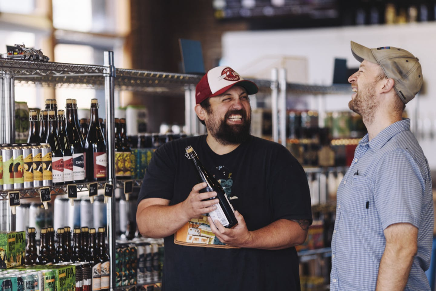 Owners talking about beer