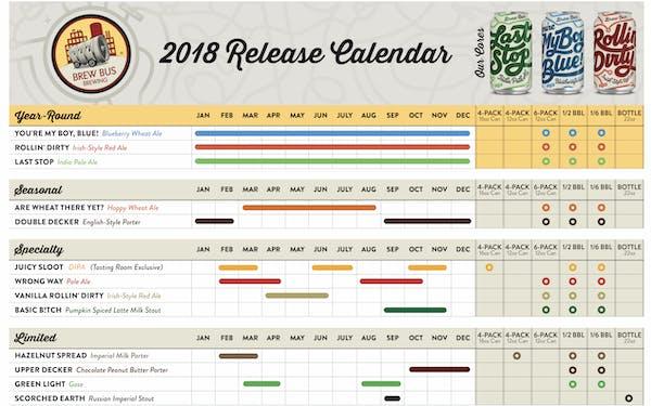 2018 Release Calendar