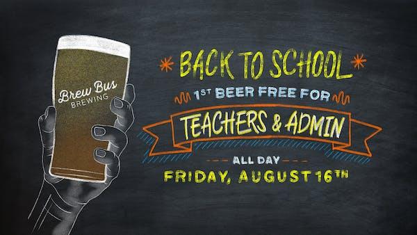 Back To School: Teachers Drink Free
