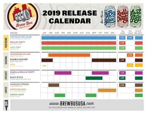 2019 Release Calendar