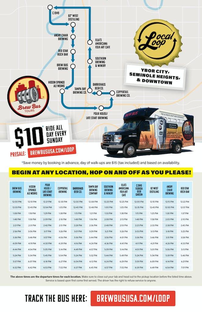 Local Loop Bus Schedule Tampa