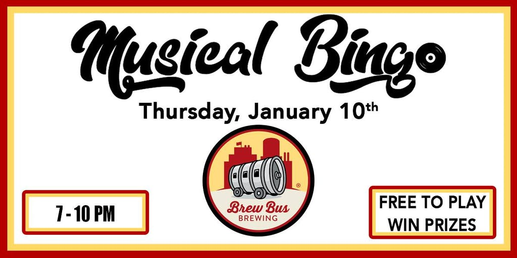 Brew Bus Brewing - Musical Bingo