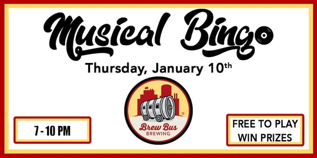 Brew Bus Brewing - Musical Bingo