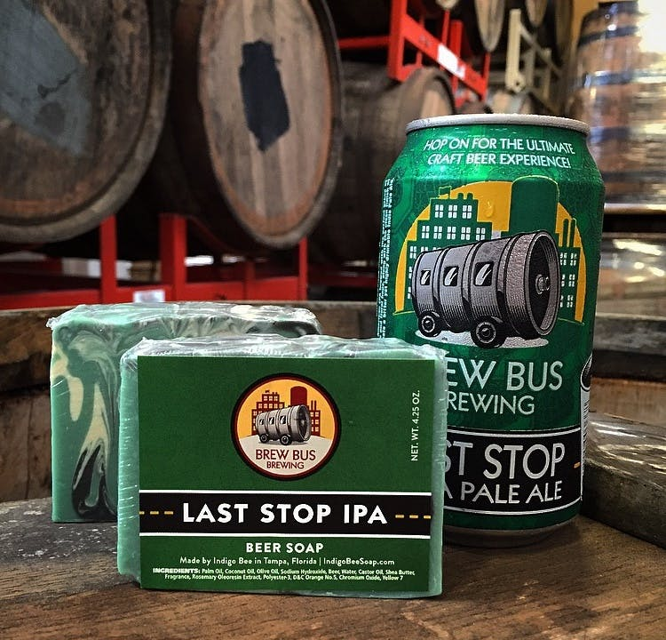 Last Stop Ipa Beer Soap Brew Bus