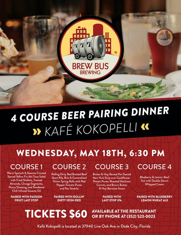 Beer Pairing Dinner At Kafé Kokopelli