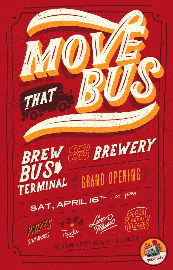 MOVE THAT BUS! Brew Bus Grand Opening