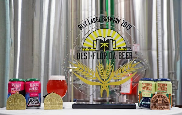 Florida Avenue Brewing Co. Designated as 2019 Best Large Brewery in Florida