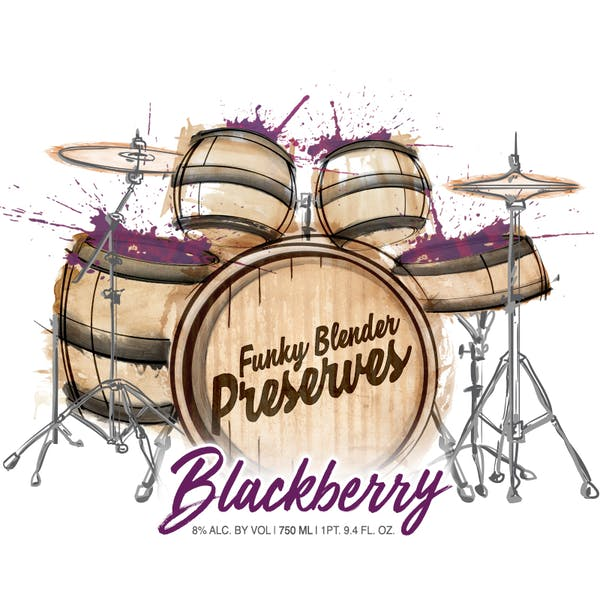Funky Blender Preserves, Blackberry, Label
