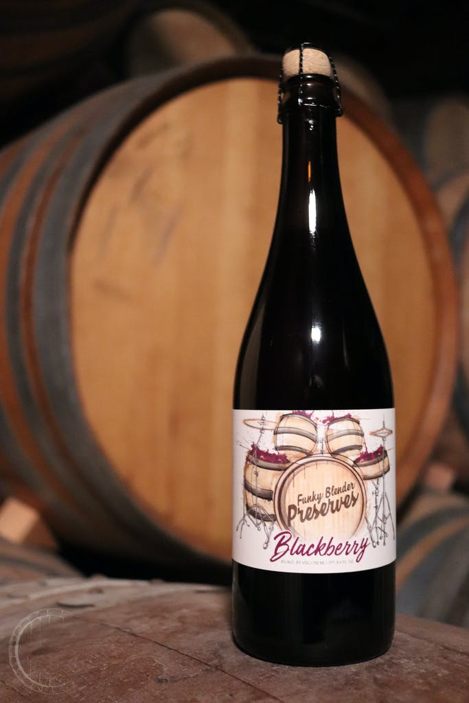 Blackberry Funky Blender Preserves, farmhouse style ale, 4 year anniversary ale by Casey Brewing and Blending.