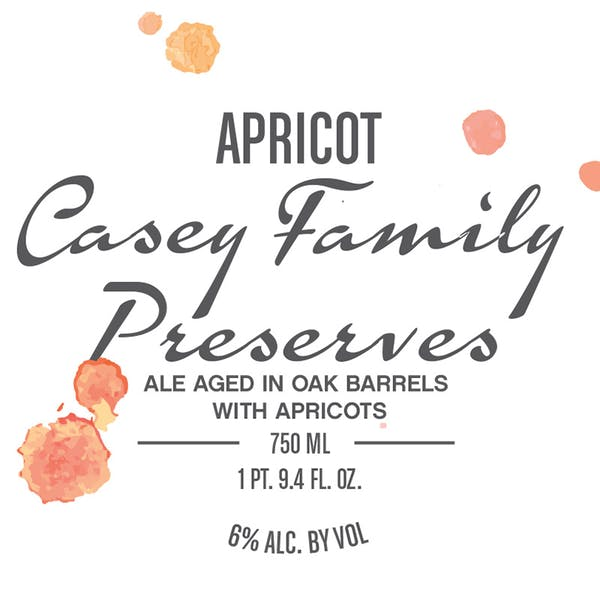 Apricot Casey Family Preserves, fruited farmhouse ale by Casey Brewing and Blending in Glenwood Springs, CO
