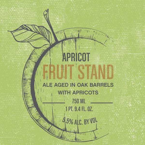Fruit Stand Apricot, fruited farmhouse ale by Casey Brewing and Blending in Glenwood Springs, Colorado
