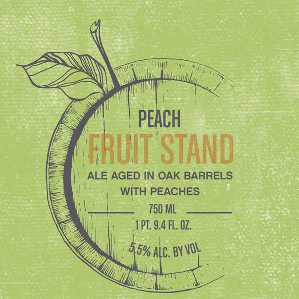 Label - Fruit Stand Peach