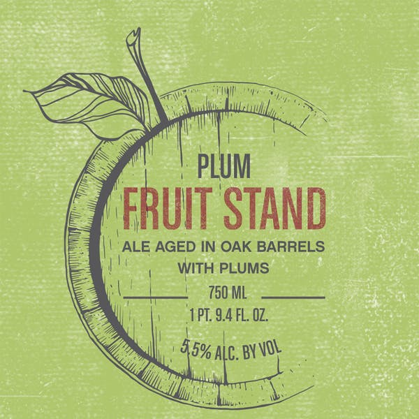 Label - Fruit Stand Plum
