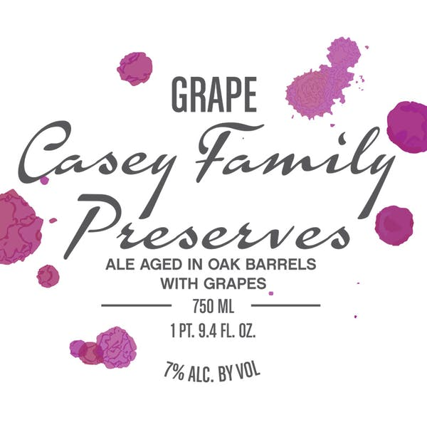 Label - Grape Casey Family Preserves