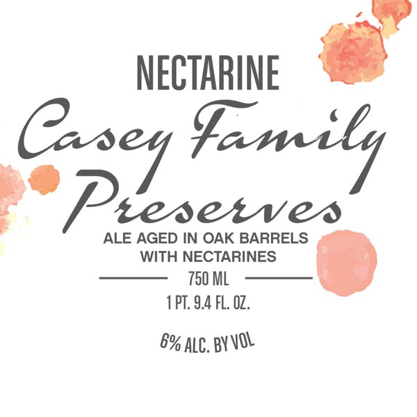 Label - Nectarine Casey Family Preserves