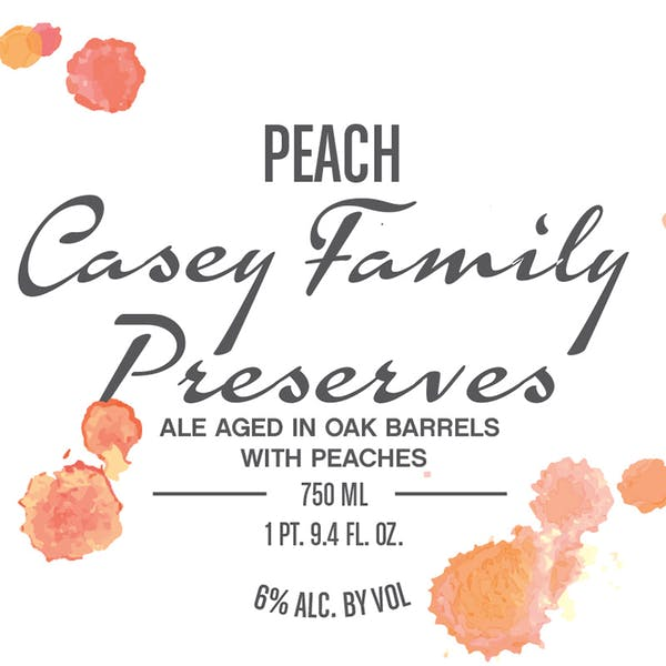 Label - Peach Casey Family Preserves