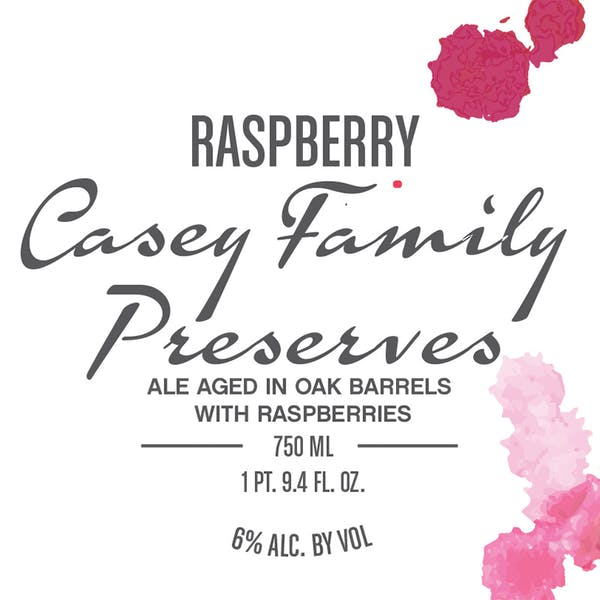 Label - Raspberry Casey Family Preserves