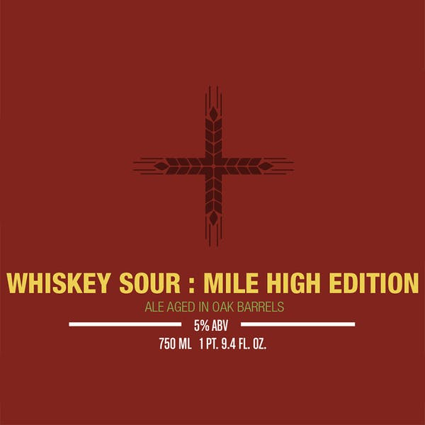 Label - Whiskey Sour Mile High