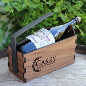 Casey Brewing and Blending custom made bottle cradles, Glenwood Springs, CO