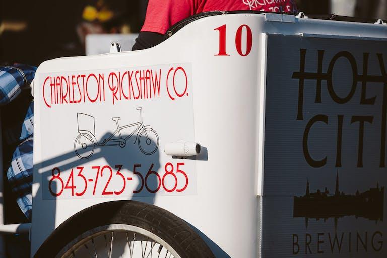 Charleston Rickshaw side of cab