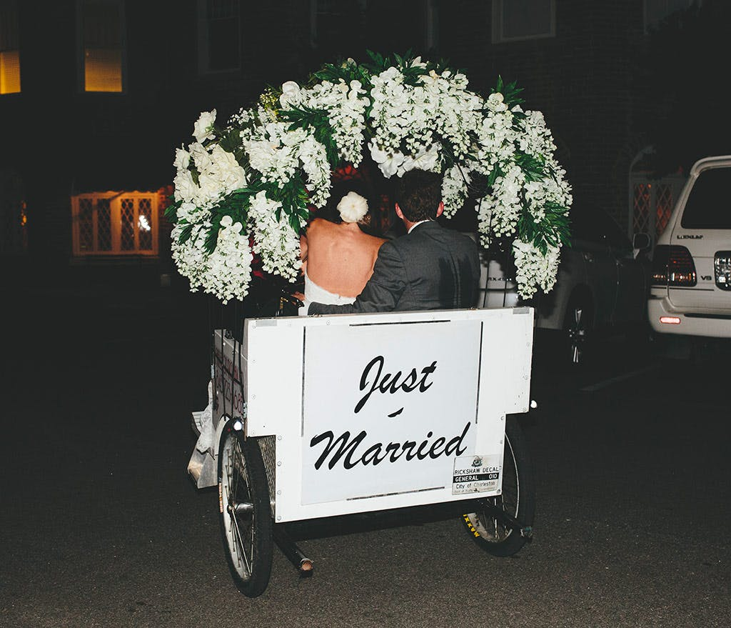 wedding-ride-just-married