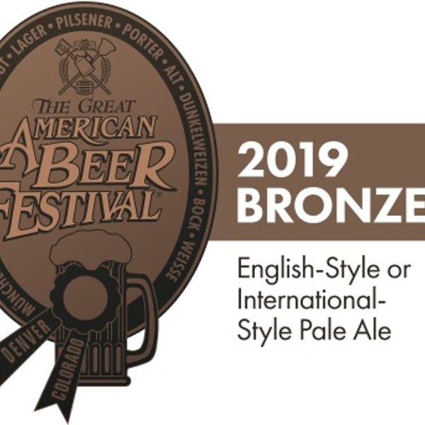 2019 GABF Bronze for English-Style or International-Style Pale