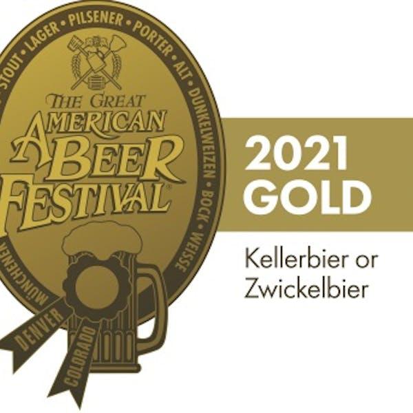 2021 GABF Gold for Kellerbier