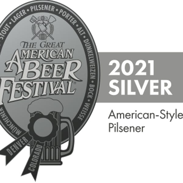 2021 GABF Silver for American-Style Pilsner
