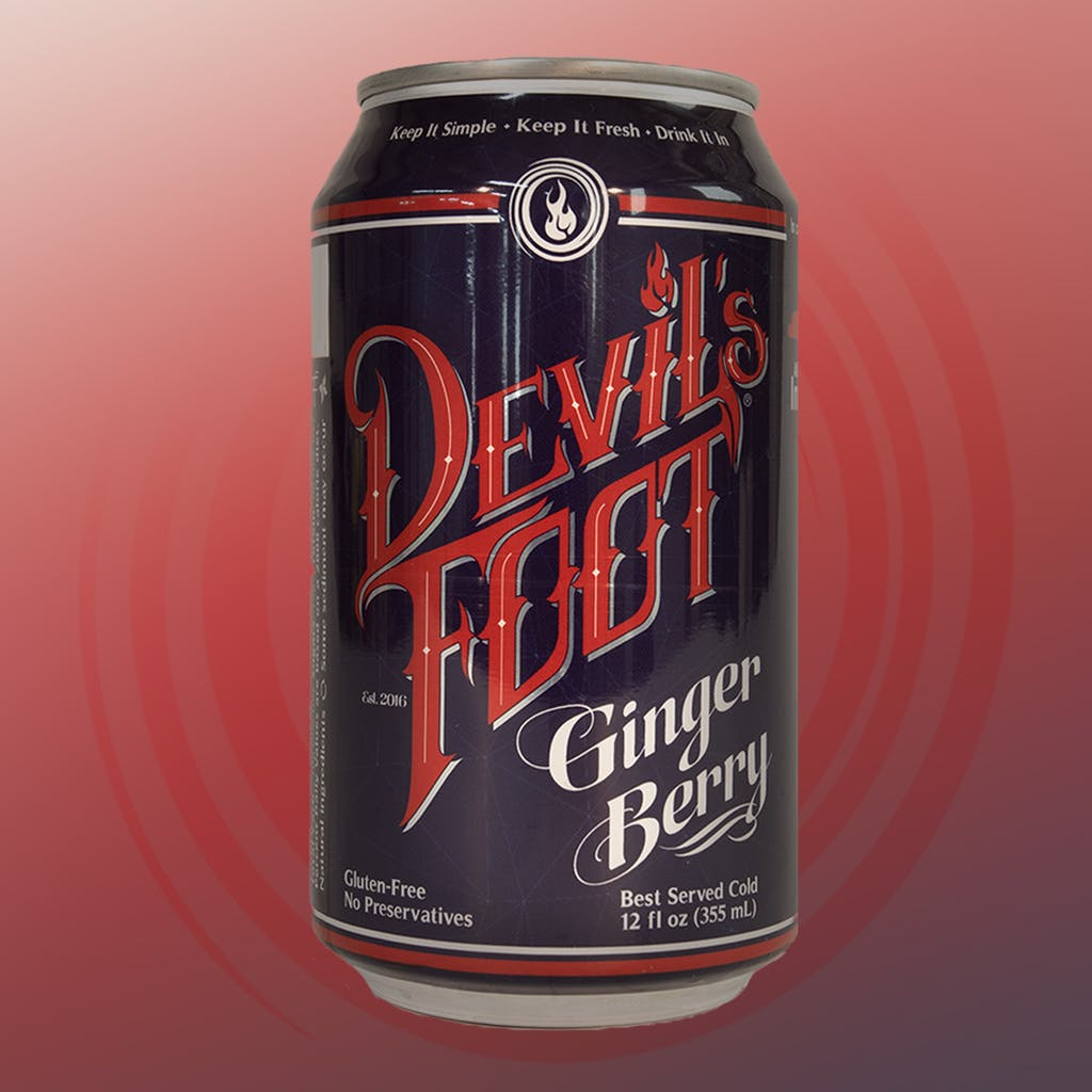 12 ounce Devil's Foot Ginger Berry can
