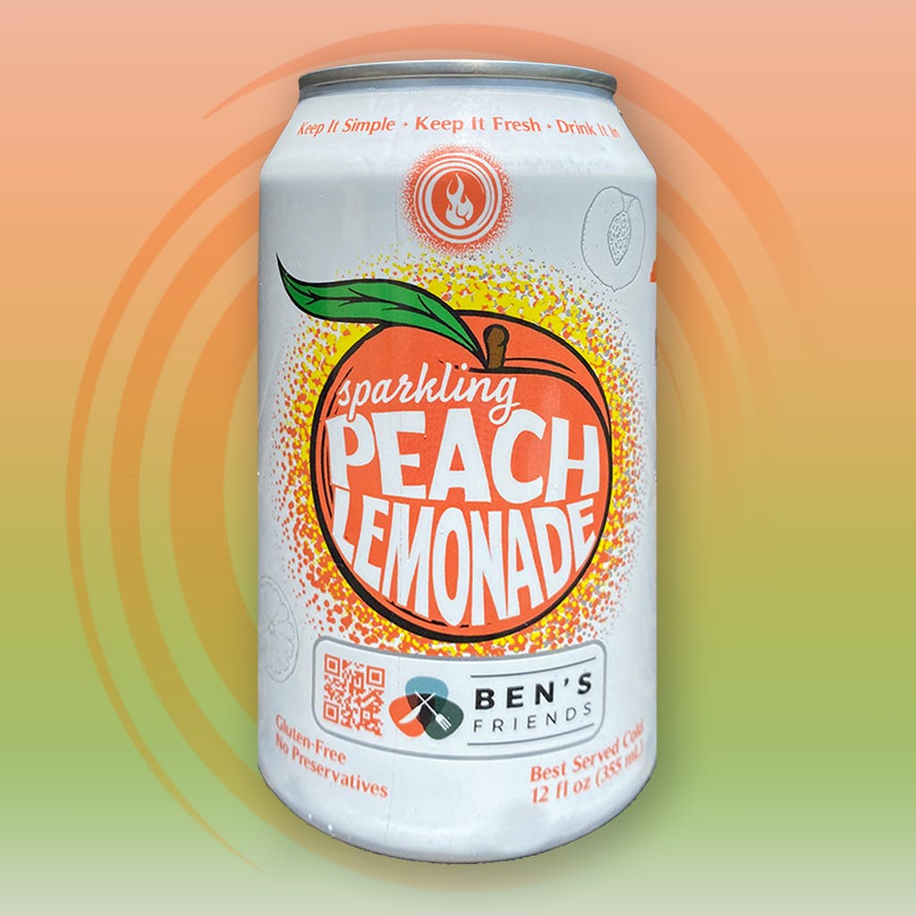 can of peach lemonade