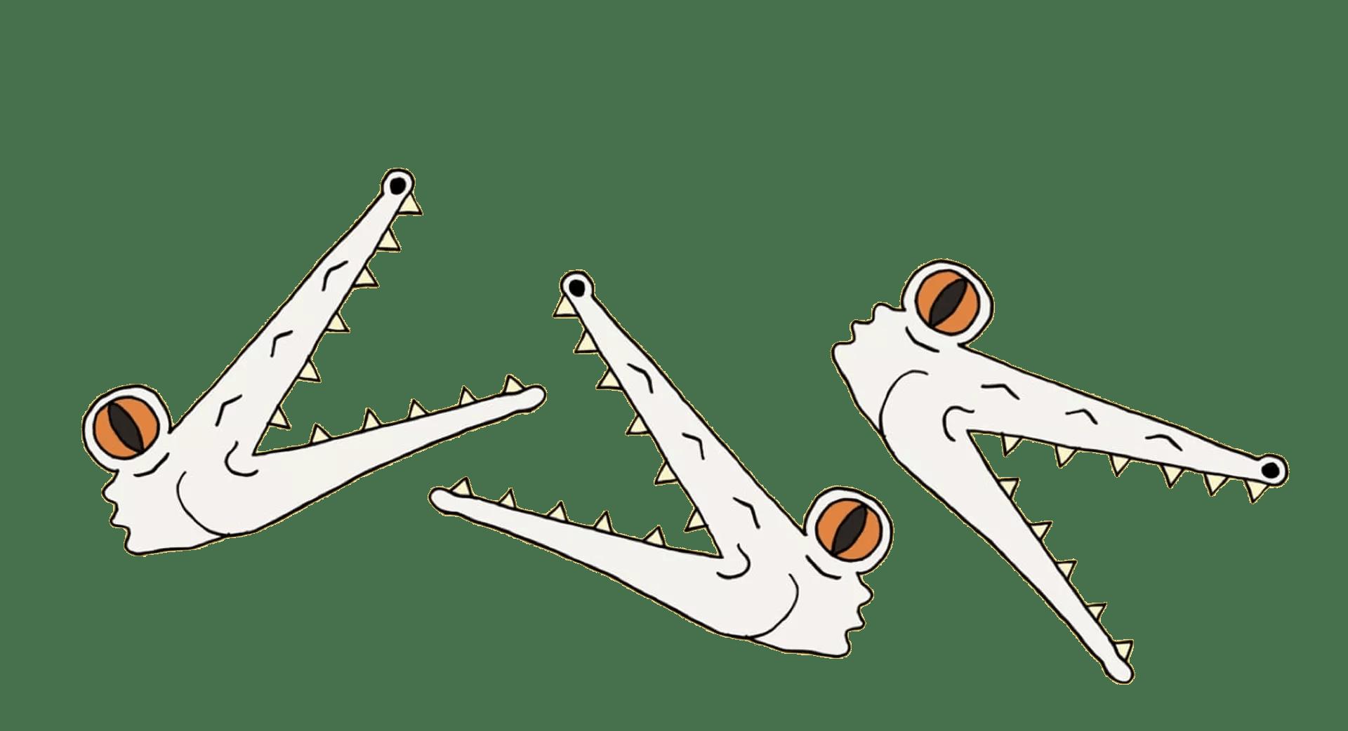 triple-crocs-heads