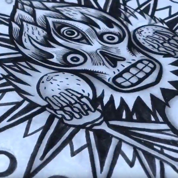 Head Rush Label Timelapse