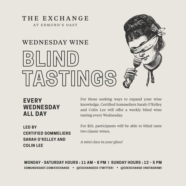 Blind Tasting Wednesdays!