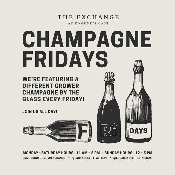 EOX CHAMPAGNE FRIDAYS!