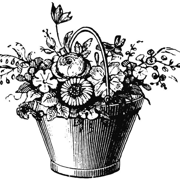 Graphic for Bucket of Flowers