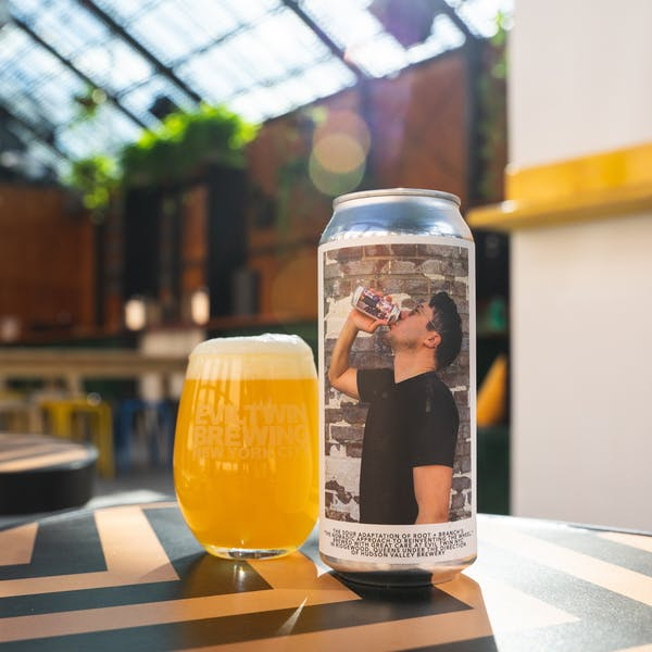 "THE SOUR ADAPTATION OF ROOT + BRANCH'S ""THE NOMADIC APPROACH TO REINVENTING THE WHEEL"" BREWED WITH GREAT CARE AT EVIL TWIN NYC IN RIDGEWOOD, QUEENS UNDER THE DIRECTION OF HUDSON VALLEY BREWERY"
