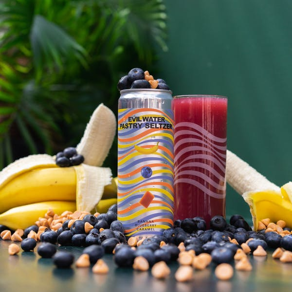 Image or graphic for EVIL WATER PASTRY SELTZER – BANANA, BLUEBERRY, CARAMEL