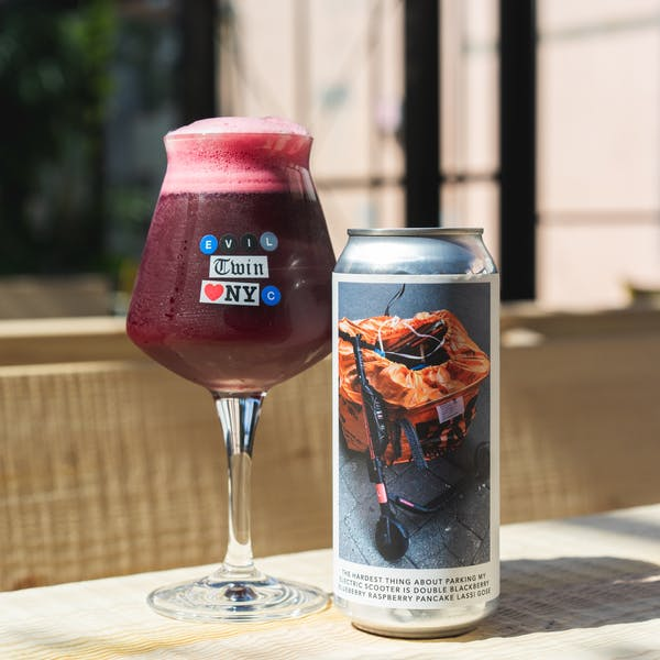THE HARDEST THING ABOUT PARKING MY ELECTRIC SCOOTER IS DOUBLE BLACKBERRY BLUEBERRY RASPBERRY PANCAKE LASSI GOSE